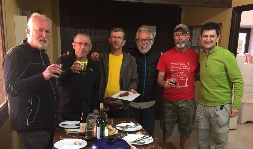 community dinner in Sangüesa