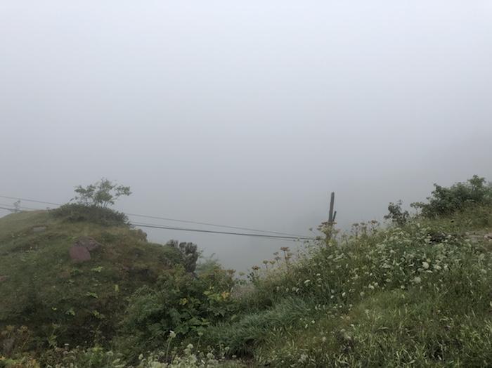 Somport, niebla, albergue aysa, camino de Santiago Aragonés
