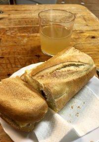 bocadillo and beer, Canfranc Pueblo, Canfranc Pueblo, Camino de santiago aragonés