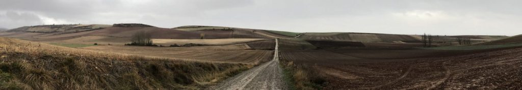 The solitude of the Camino de Santiago in winter