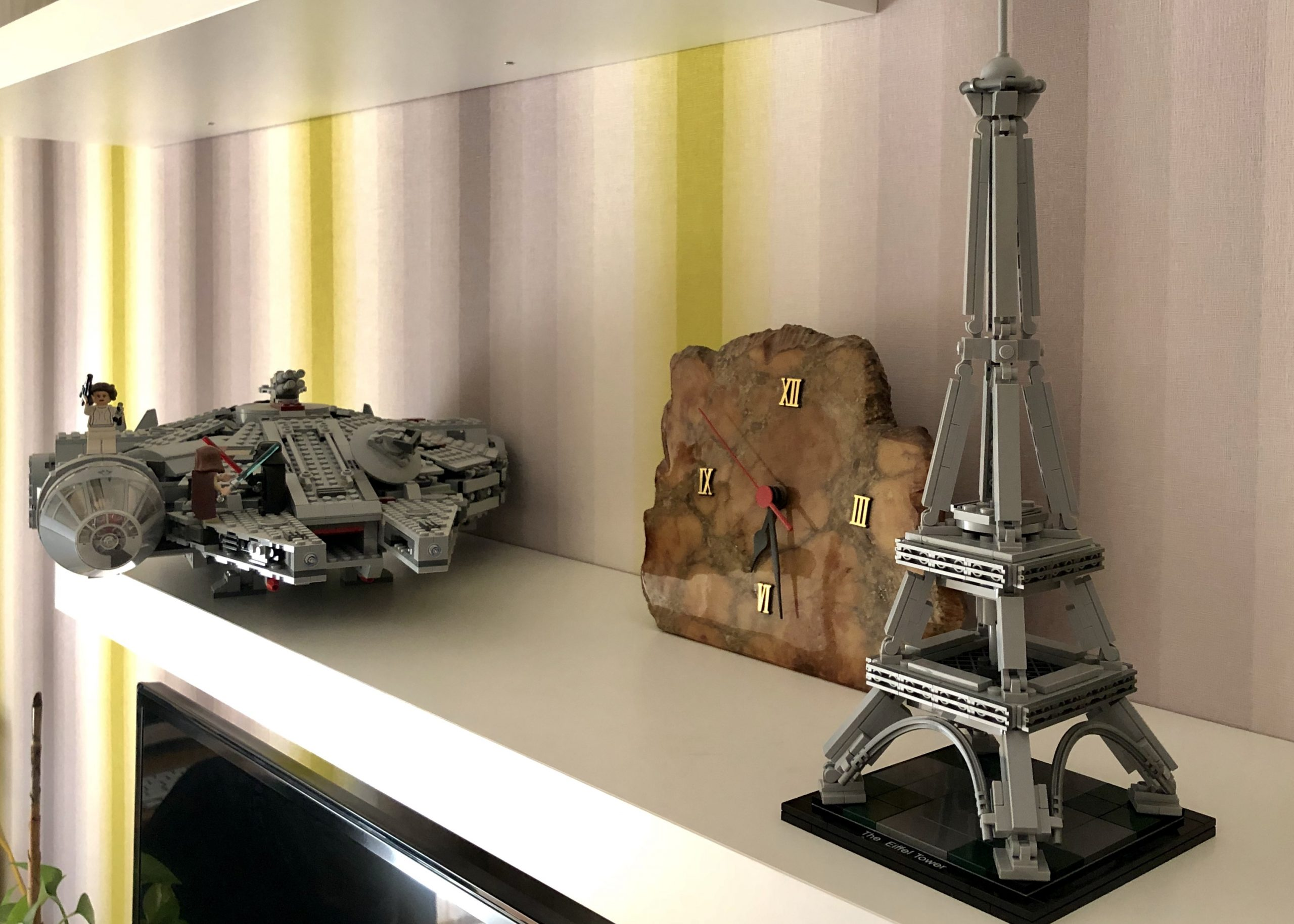 Millenium Falcon and Eiffel Tower