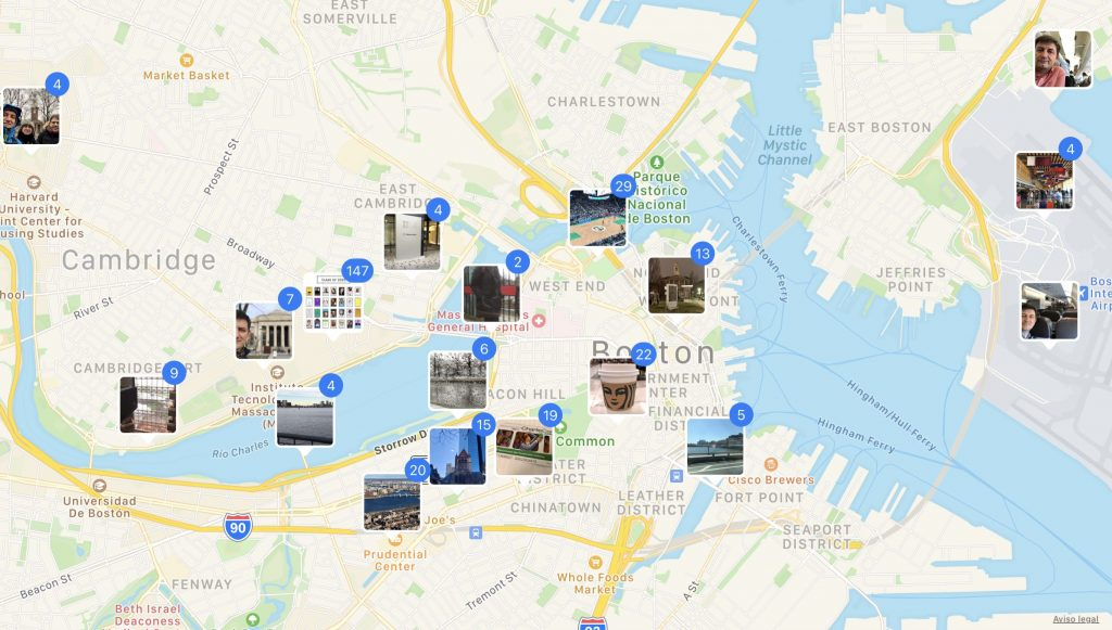 Boston geoloc photos iOS Shortcuts KNIME data analytics ETL Google Data Studio NOMINATIM API
