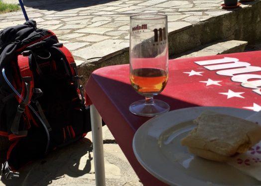 beer Artieda Camino de Santiago backpack walk slow life