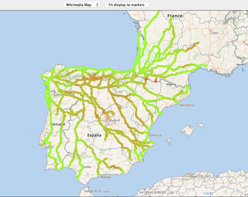 todos los caminos en 3D camino de Santiago gpx elevación